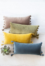 Kalalou Velvet Lumbar Pillow \ Honey