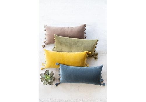 Kalalou Velvet Lumbar Pillow \ Honey