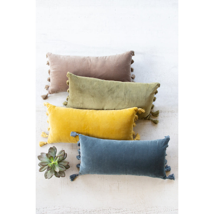 Velvet Lumbar Pillow \ Honey