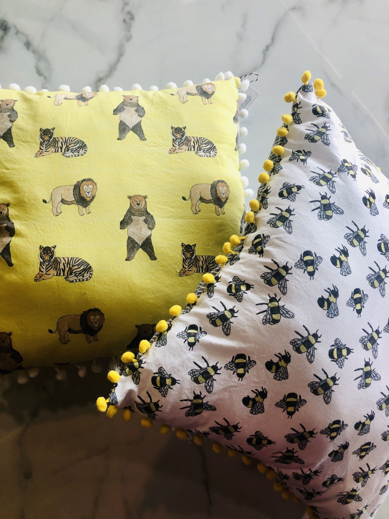Lavender & Clover Illustrated Pillows