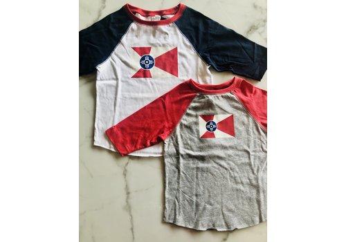 GMFD Wichita Flag Blue Raglan Toddler/Youth Shirt