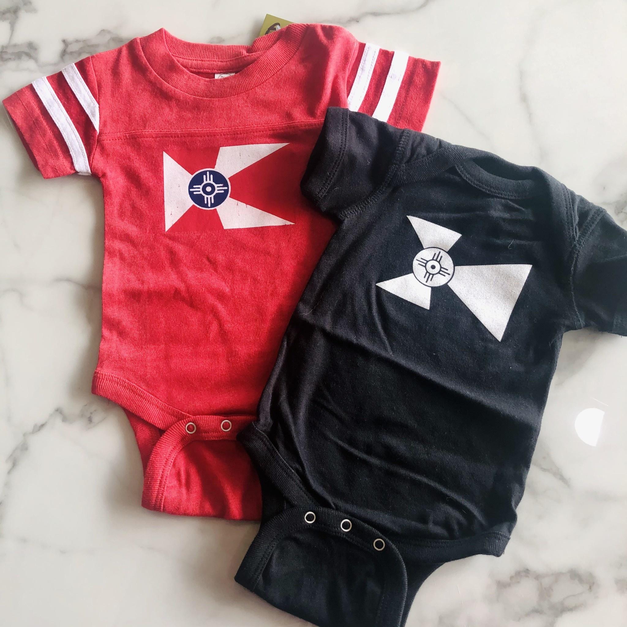 GMFD Wichita Flag Onesie Red/White Stripes