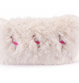 Bloomingville Dancing Flamingos Pillow Ivory & Pink