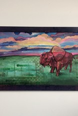 Emily Miller Yamanaka Sunset on the Plains Framed 12x22