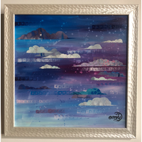 Kansas Winter Sky 4 Framed 12x12