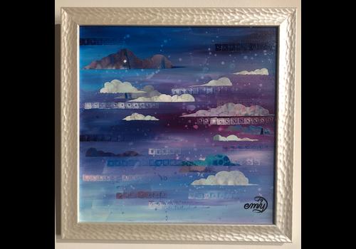 Emily Miller Yamanaka Kansas Winter Sky 4 Framed 12x12