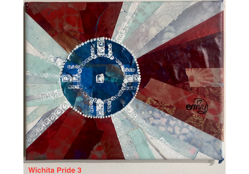 Emily Miller Yamanaka Wichita Flag Original Art 8x10