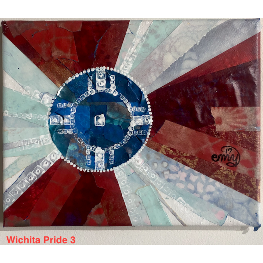 Wichita Flag Original Art 8x10