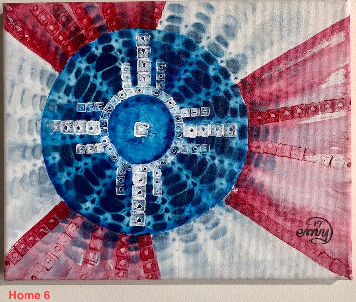 Emily Miller Yamanaka Wichita Flag Original Art 8x10
