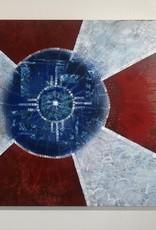 Emily Miller Yamanaka Wichita Flag Original Art 20x20