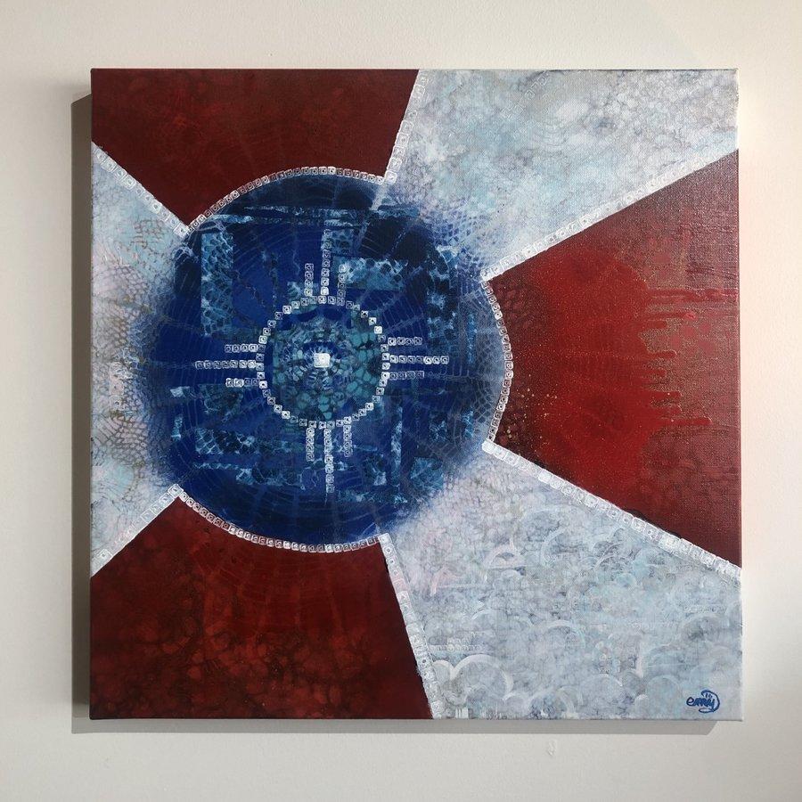 Wichita Flag Original Art 20x20
