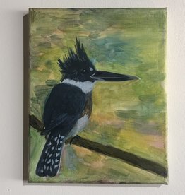 Theresa Wolff Art Belted Kingfisher - into the new wilderness