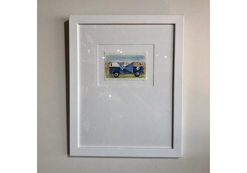 Harris & Co. Frame Shop VW Bus Watercolor Framed Signed Print