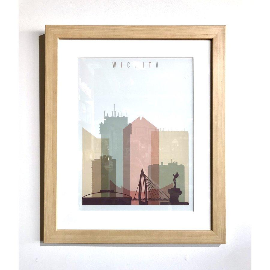 Framed: Wichita Pastel Skyline - 14x18