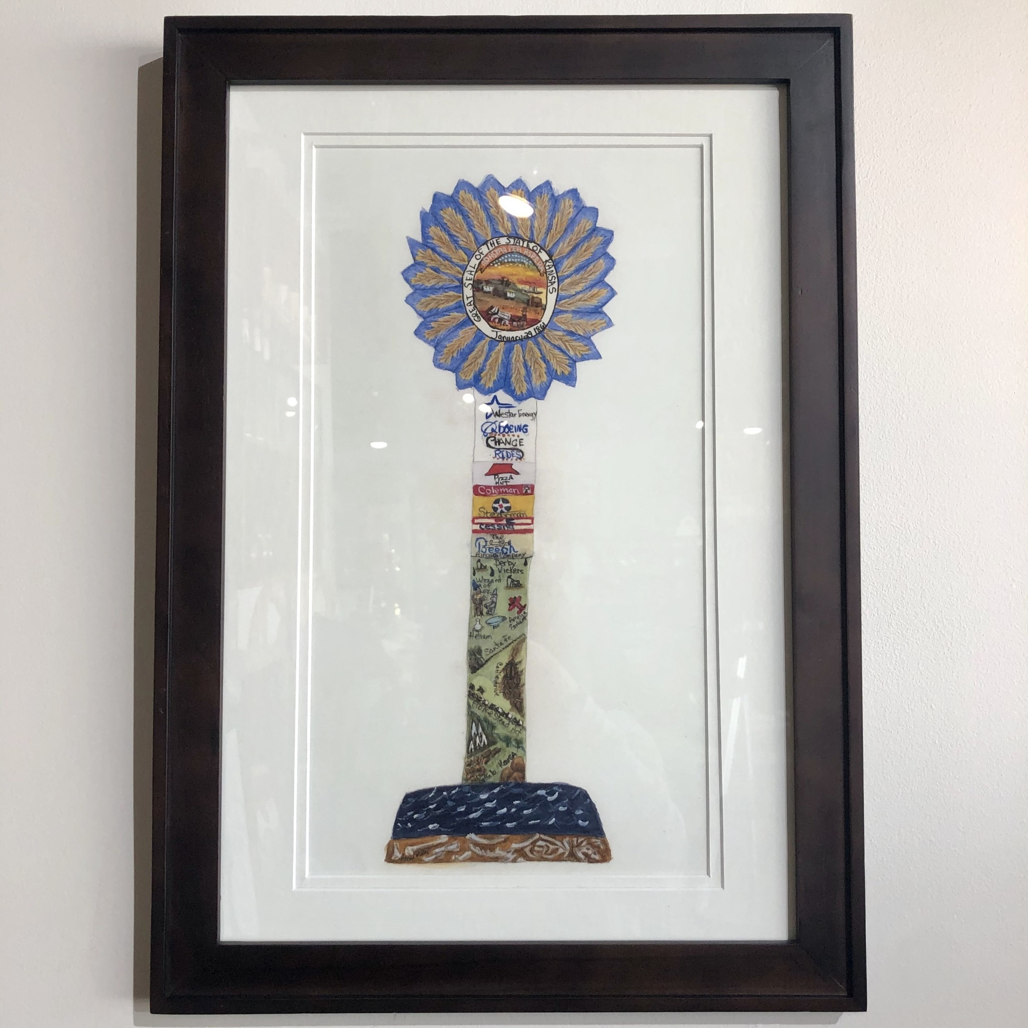 Art by Angie Keeper of the Plains Framed
