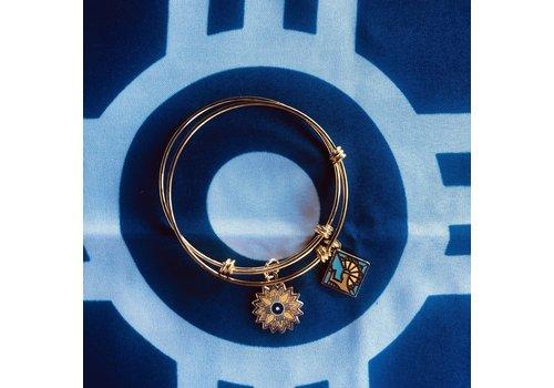 Heartlandia by Gardner Design Heartlandia Bangle Bracelet Keeper/Sunflower