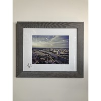 16x20 Framed Wingnuts city view / river - color