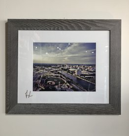 Drone-tography 16x20 Framed Wingnuts city view / river - color