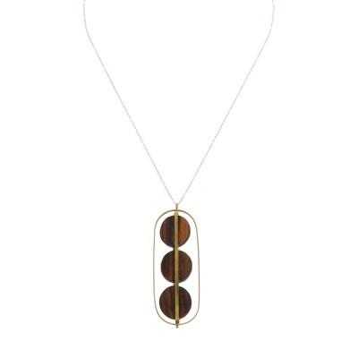 HomArt Ocotillo Pendant, Brass & Wood Caged