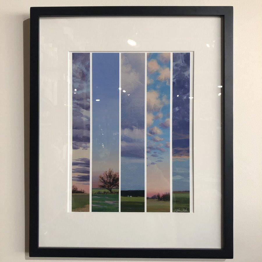 "Catherine Freshley Framed ""Test Strips"""