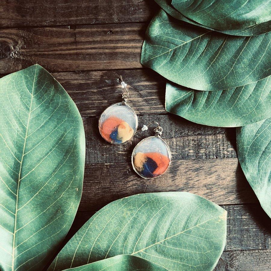 Sandcastle Glass Earring
