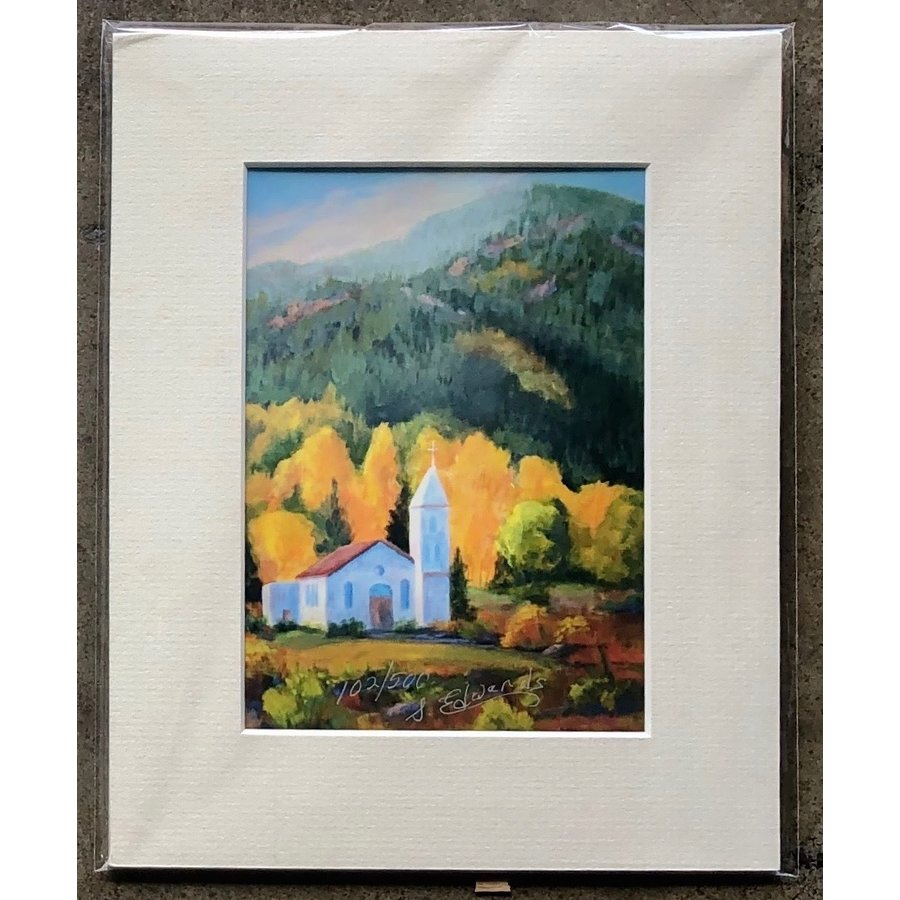 """""""Chapel Light of South Fork"""" 5x7 Matted Print"""