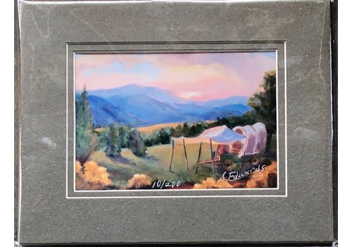 "Sharon Edwards Art ""Alice's Chuckwagon"" 5x7 Matted Print"