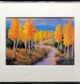 "Sharon Edwards Art ""Aspen Journey on Pool Table"" 5x7 Matted Print"