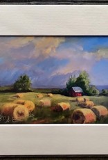 """Sharon Edwards Art """"Haying's Done"""" 5x7 Matted Print"""