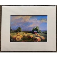 """""""Haying's Done"""" 5x7 Matted Print"""