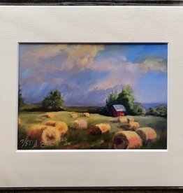 "Sharon Edwards Art ""Haying's Done"" 5x7 Matted Print"
