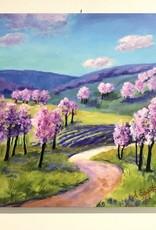 "Sharon Edwards Art ""Orchard Blossom Trail"" 12""x12"""