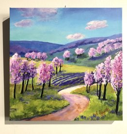 "Sharon Edwards Art ""Orchard Blossom Trail"" 12""x12"""