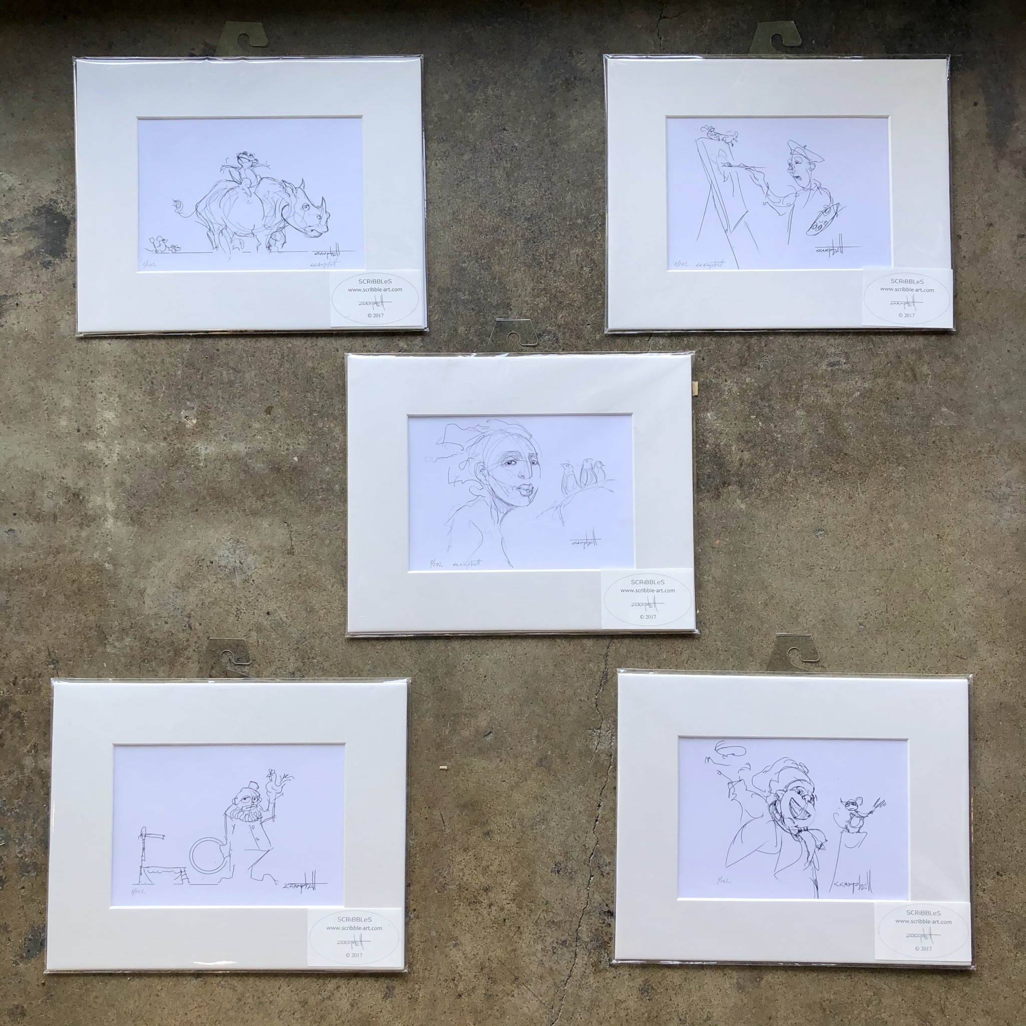 Craig Campbell Scribbles Print