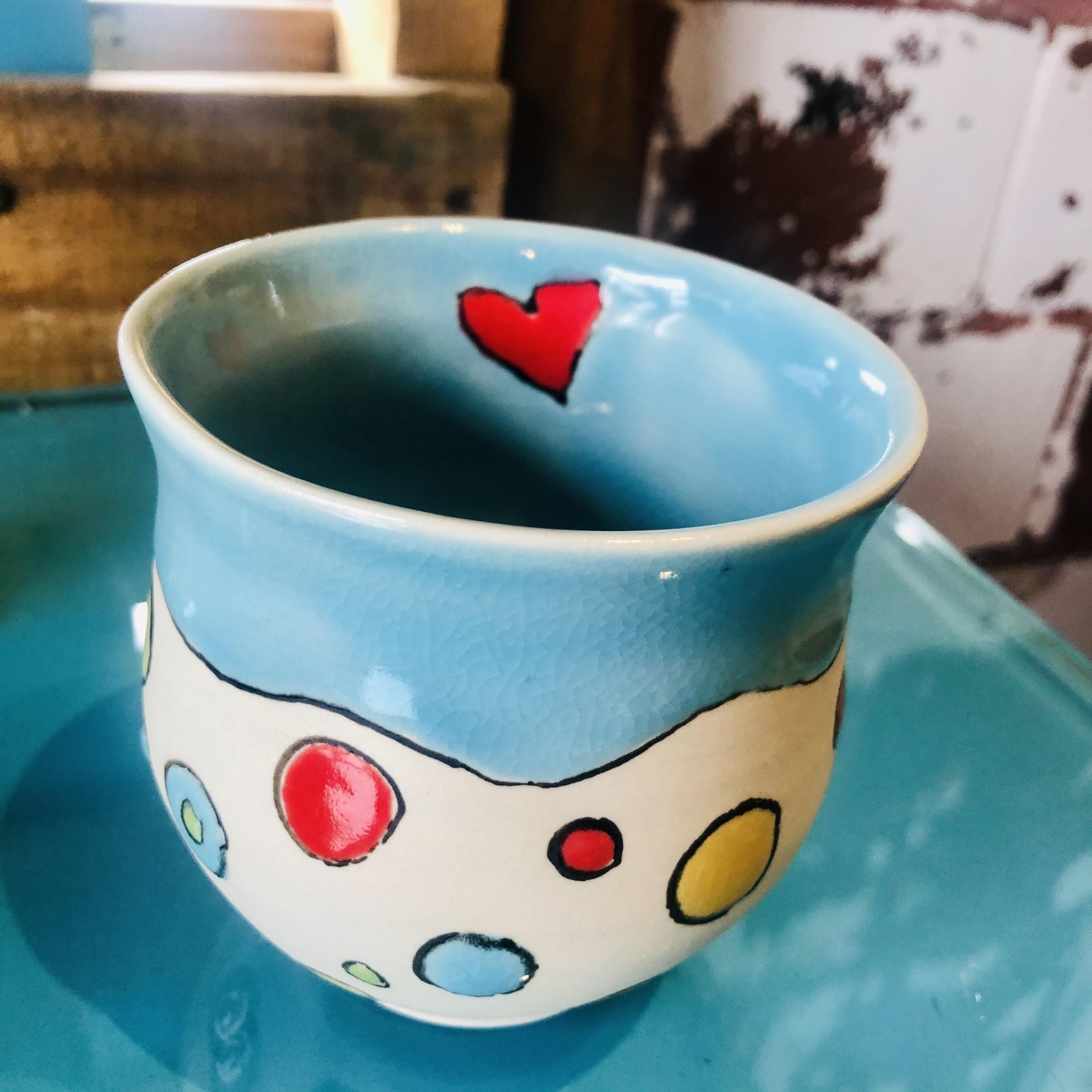 Tina Thomas Tina Thomas Wine Cup with Heart