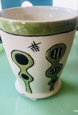 Tina Thomas TIna Thomas Small Cup Green and Black