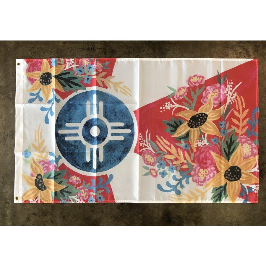 Joy Floral Wichita Flag