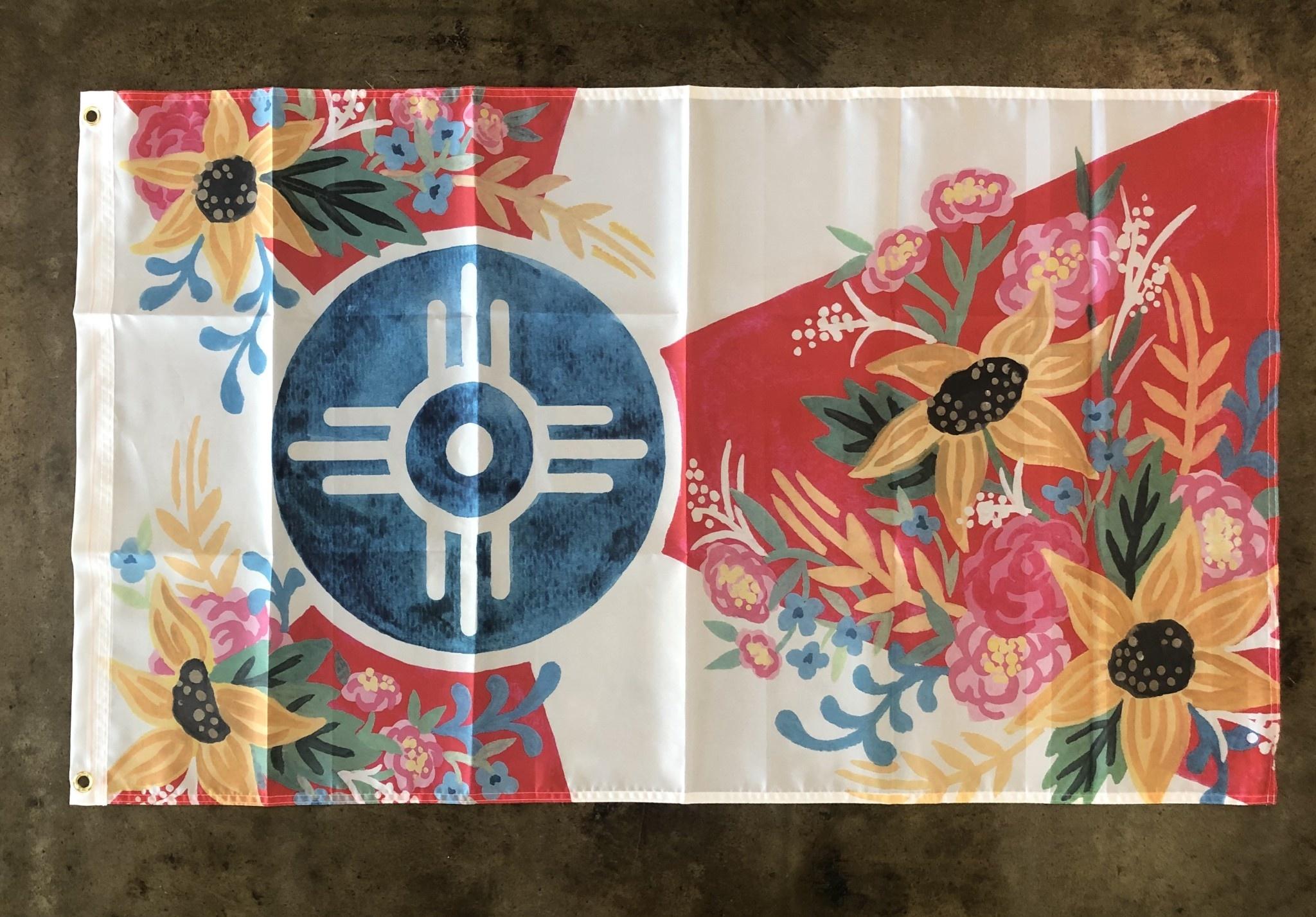 Elisabeth Owens Joy Floral Wichita Flag