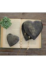 Kalalou Aluminum Heart Boxes \ Antique Black Small