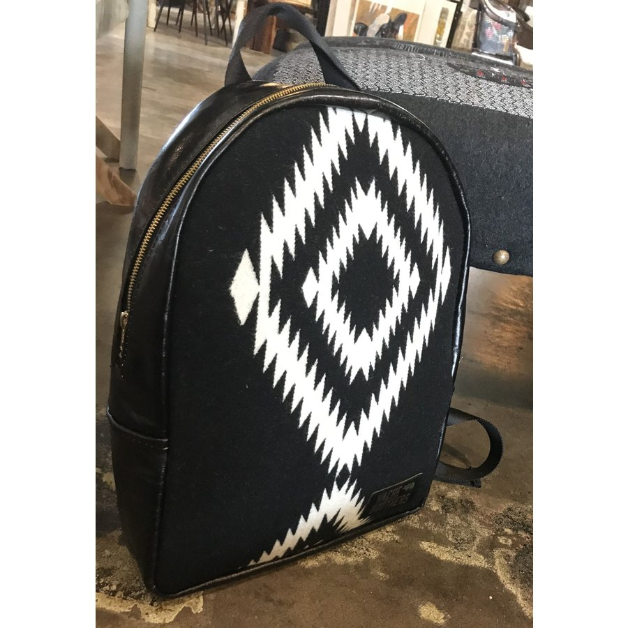 Vache Brothers Pendleton Leather Backpack
