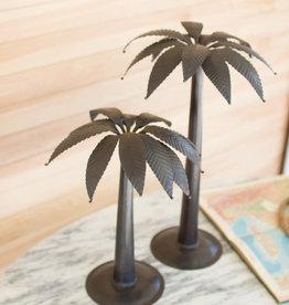 Kalalou Antique Black Metal Palm Trees, LG