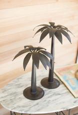 Kalalou Antique Black Metal Palm Trees, SM
