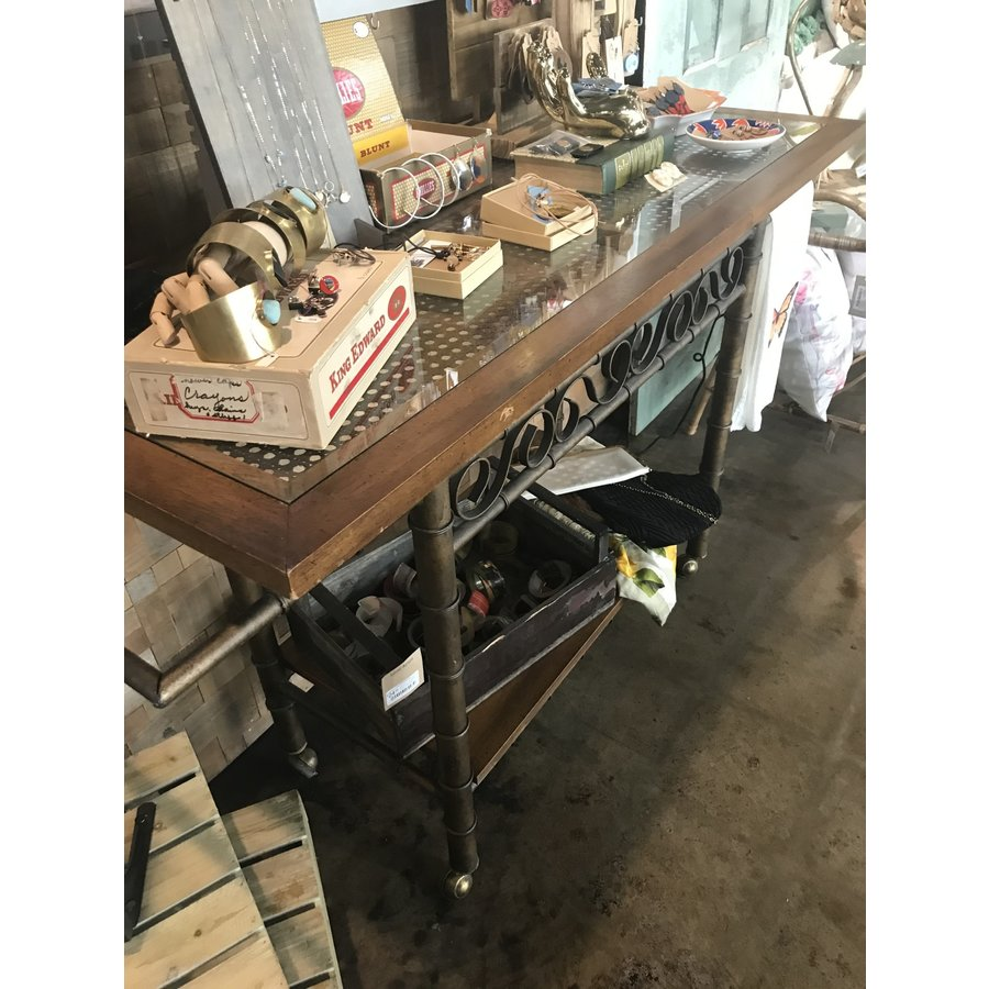 Vintage Iron and Woven Console