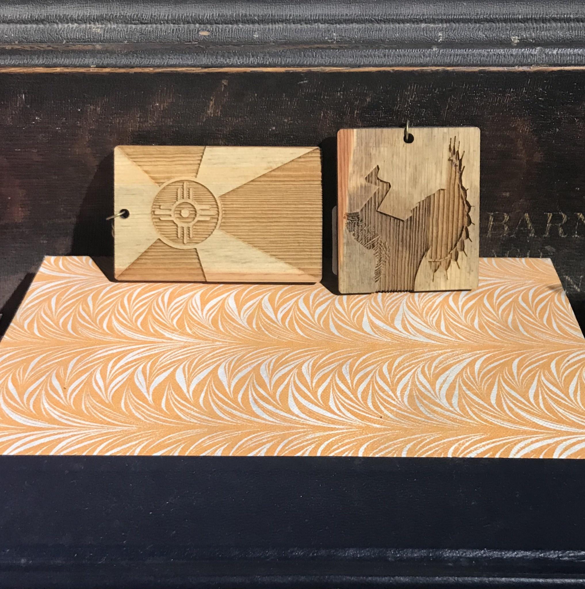 ICTMakers Wood Flag Keychain