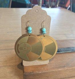 ICTMakers Brass Hogan Earrings