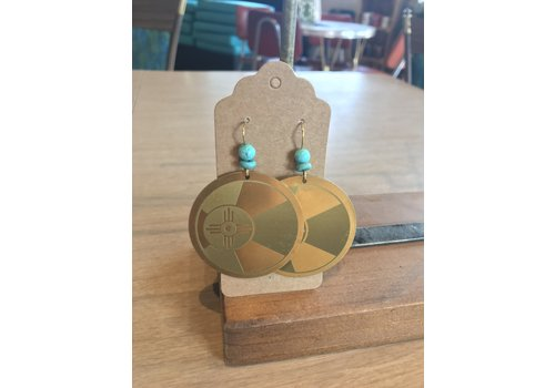 ICTMakers Brass Hogan Earrings
