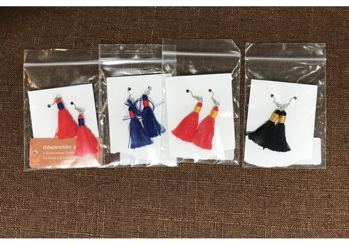 Thistlewhite Designs Thistlewhite KU Tassel Earrings