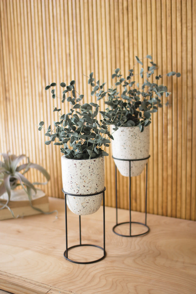 Kalalou Terrazzo Planters with Stands