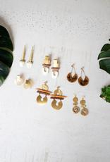 Kalalou Brass Earrings
