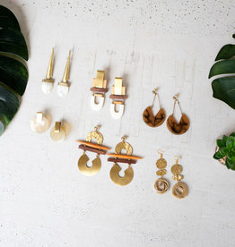 Kalalou Brass Earrings